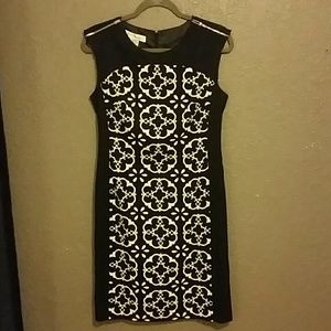 Maggie London Black and White Dress